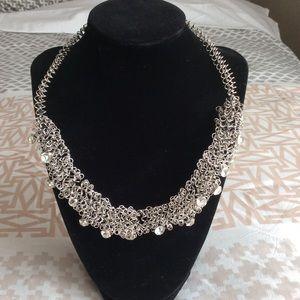 Jewelry - Ultra modern barbed wire rhinestone necklace -NWOT
